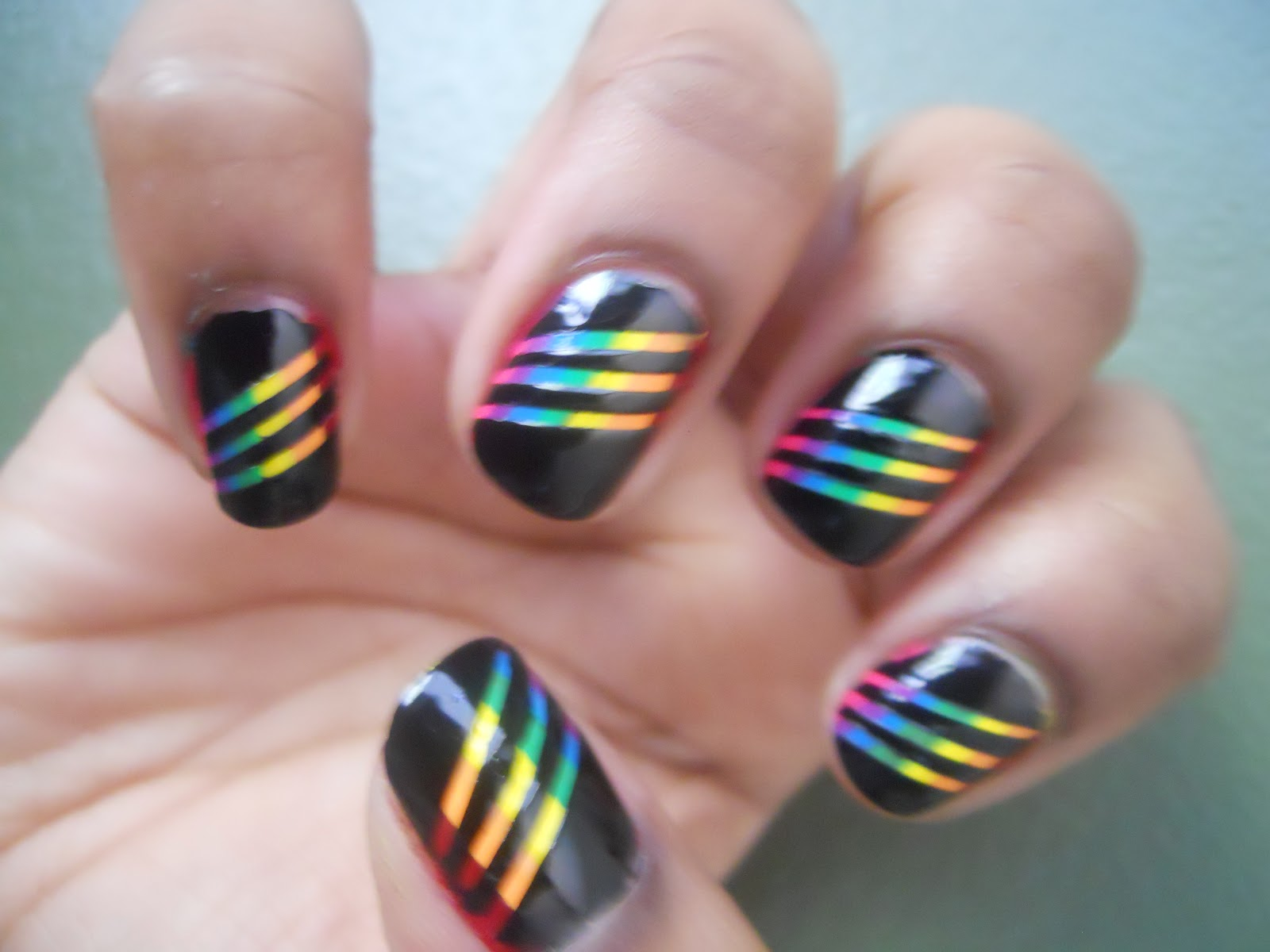 Nail Polish Anonymous: Somewhere there\'s a Rainbow