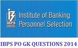 IBPS PO GENERAL AWARENESS QUESTIONS ASKED IN 11, 12, 18, 19 OCTOBER