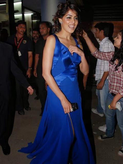 Genelia In Blue Dress