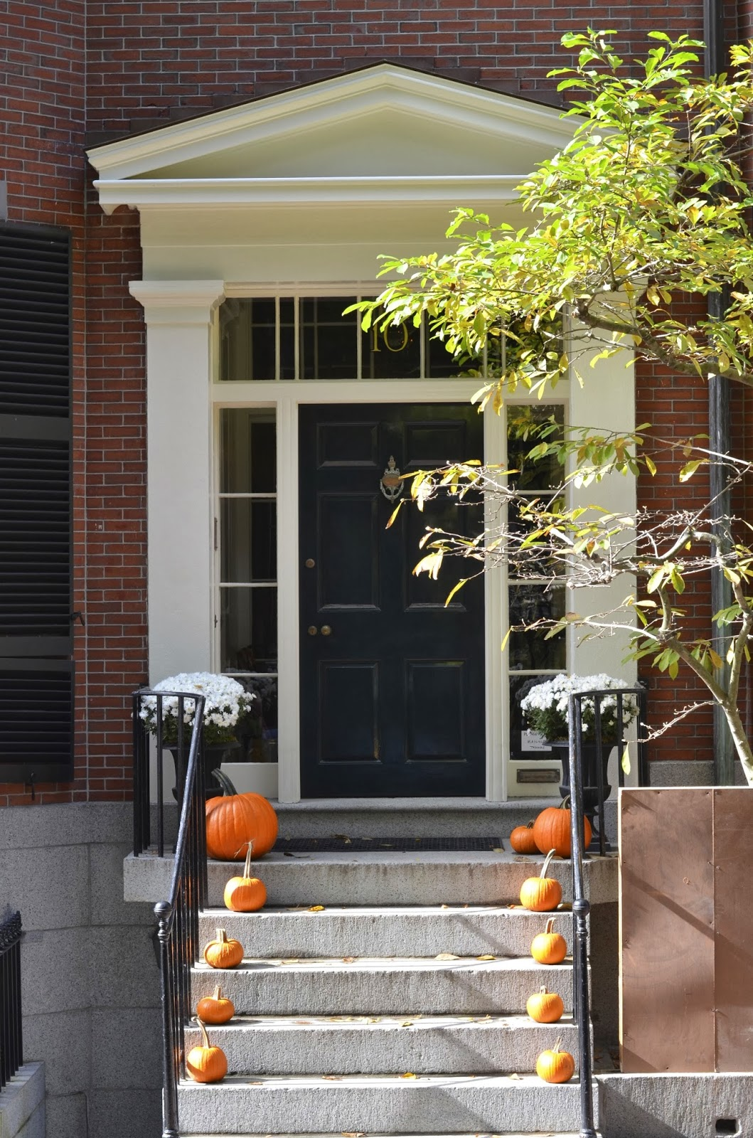 Beacon Hill, Boston, Massachusetts, pumpkin, fall