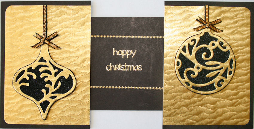 elegant gold and black christmas card