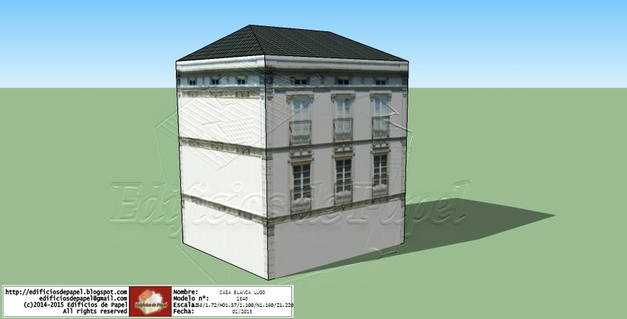 Edificios de Papel (C)2015 - White House in Lugo
