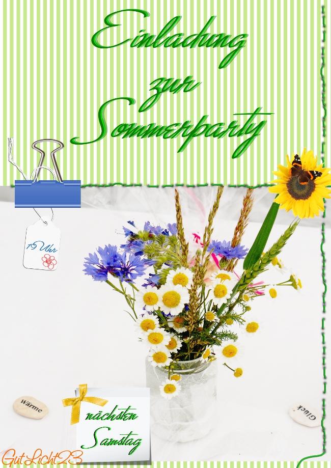 lass dein foto verzaubern.: einladung zur sommerparty, Einladung