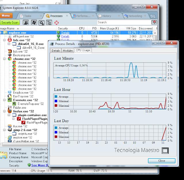 System Explorer es un potente administrador de tareas