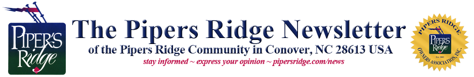 Pipers Ridge Newsletter