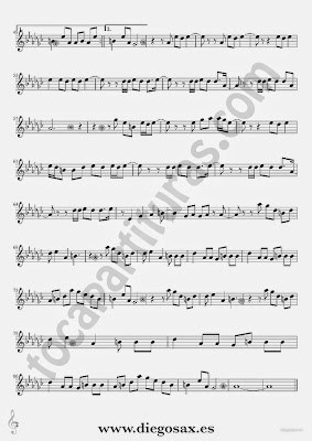 Tubescore Moves Like Jagger Sheet Music for Alto Sax and Baritone Sax by Maroon 5
