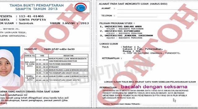 Formulir Pendaftaran Sbmptn