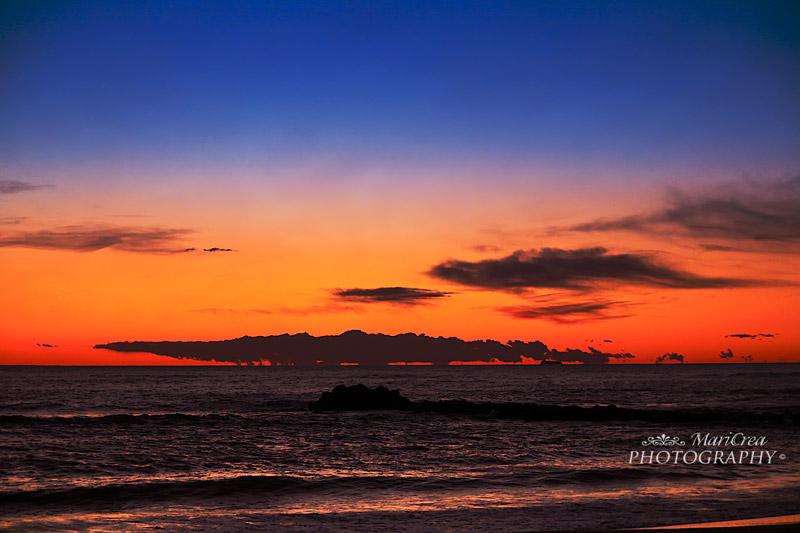 Marina di Massa-tramonto sul mare