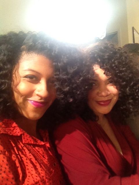 shanti and antoinette, around the way curls, natural hair, transitioning movement Carol's Daughter