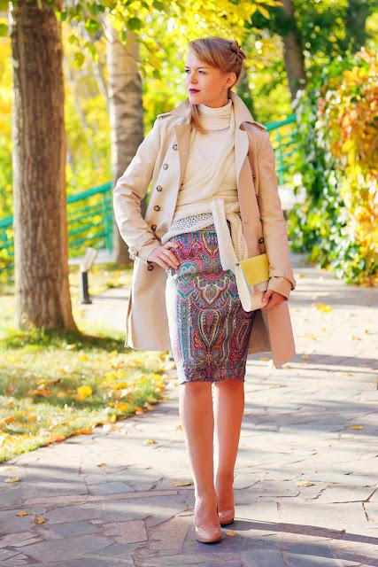Вместо юбки платок