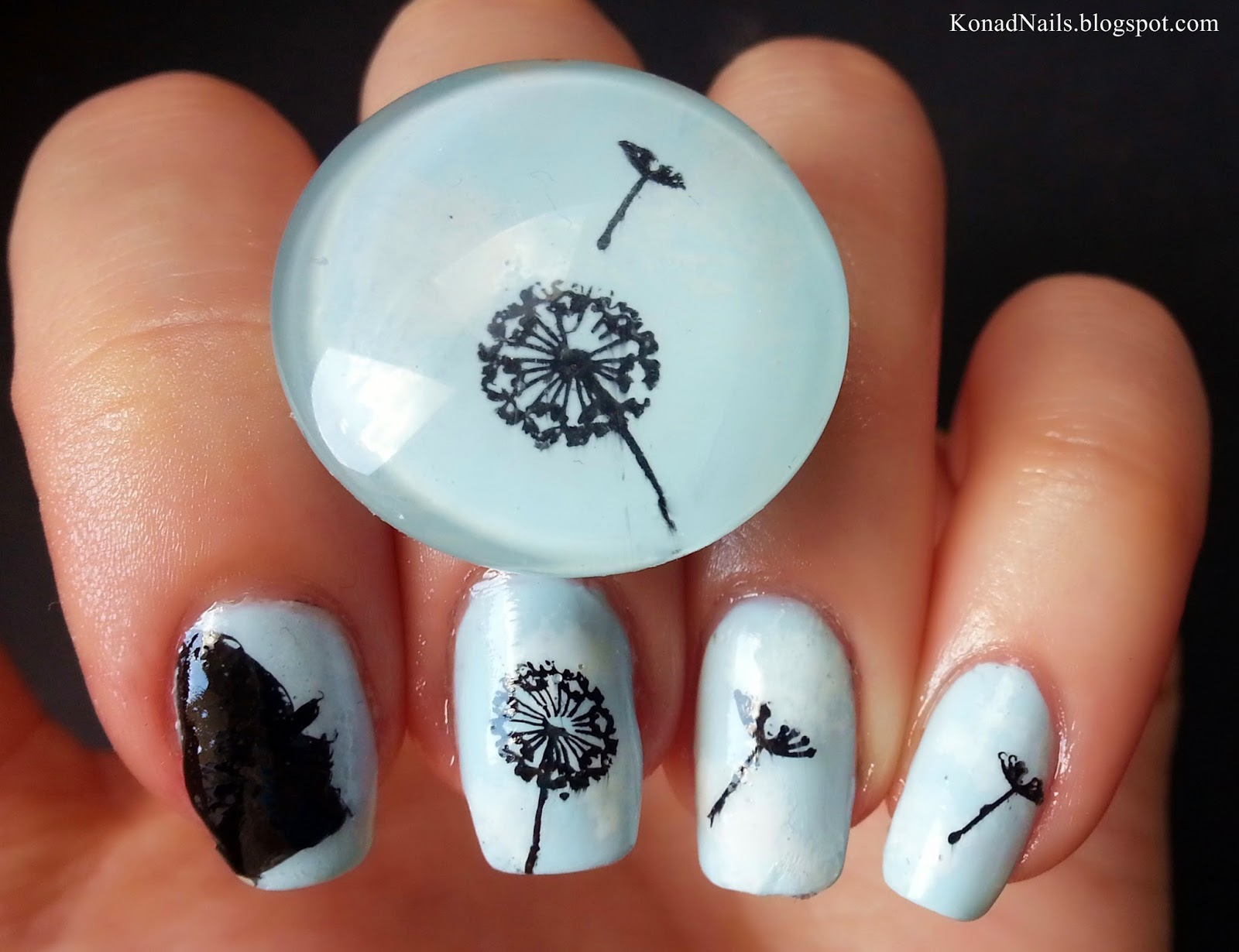 Konad addict dandelion nail art sky printed dress now id like to introduce you my new sky printed dress that matches my nails i got it from sensationofnight for a reasonable price prinsesfo Choice Image
