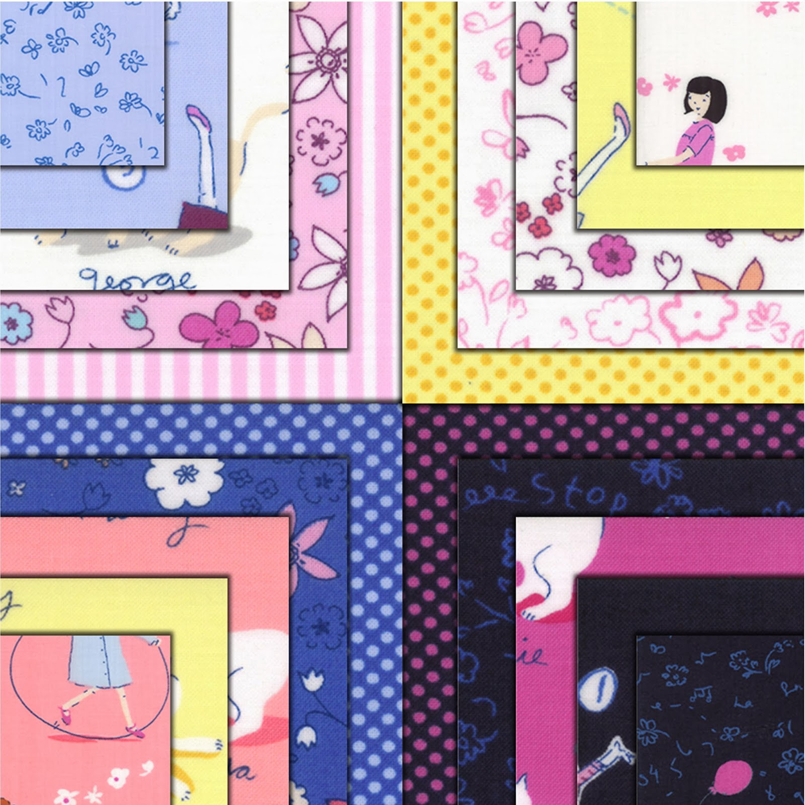 Moda HELLO PETAL Quilt Fabric by Aneela Hoey