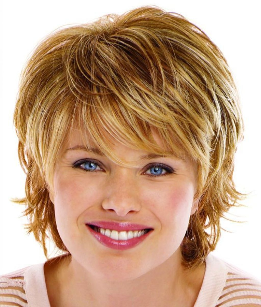 Стрижки для коротких волос для полных волос