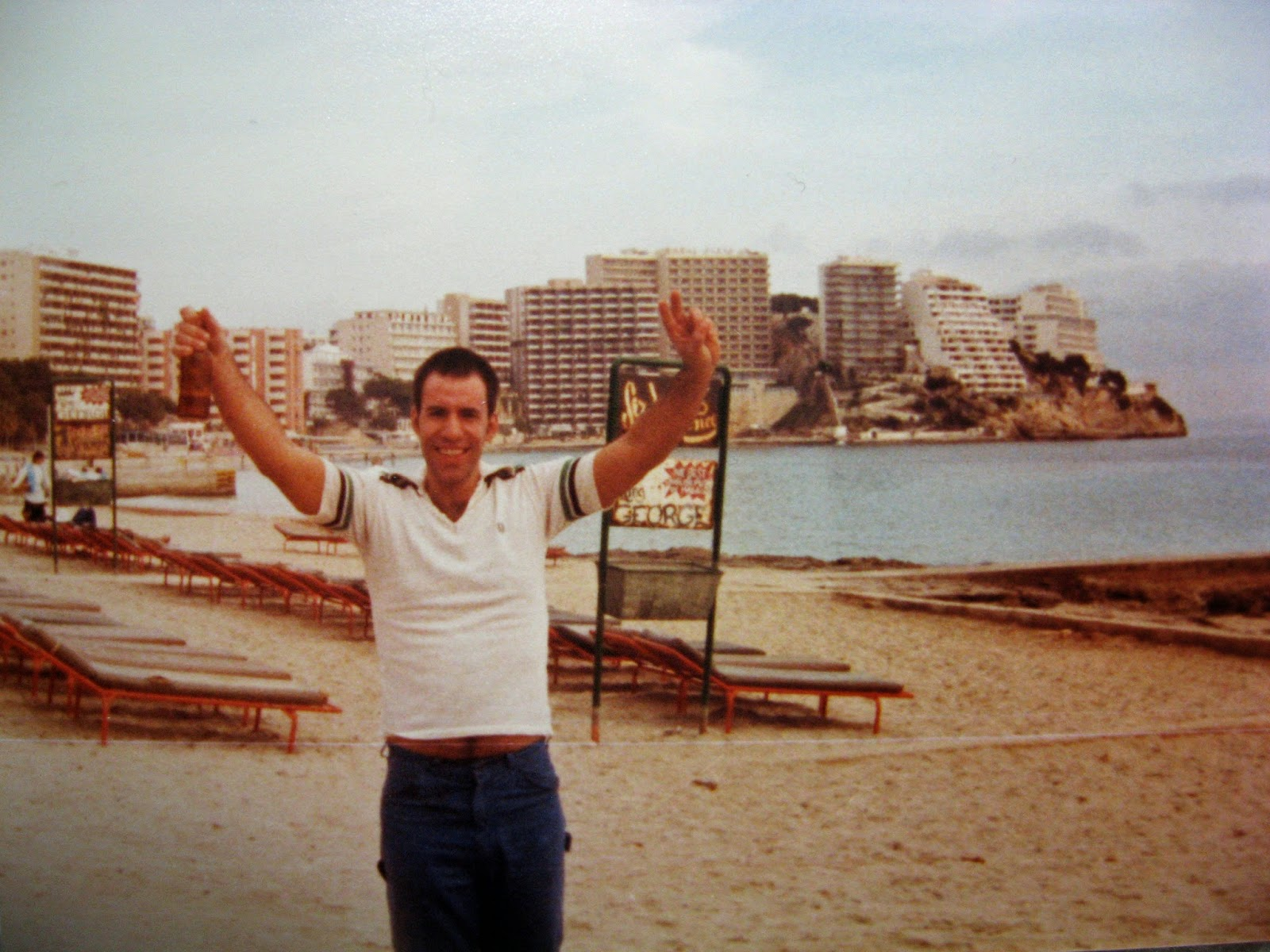 Tommy Mondello... aftermath of a great day Palma Spain January 1983