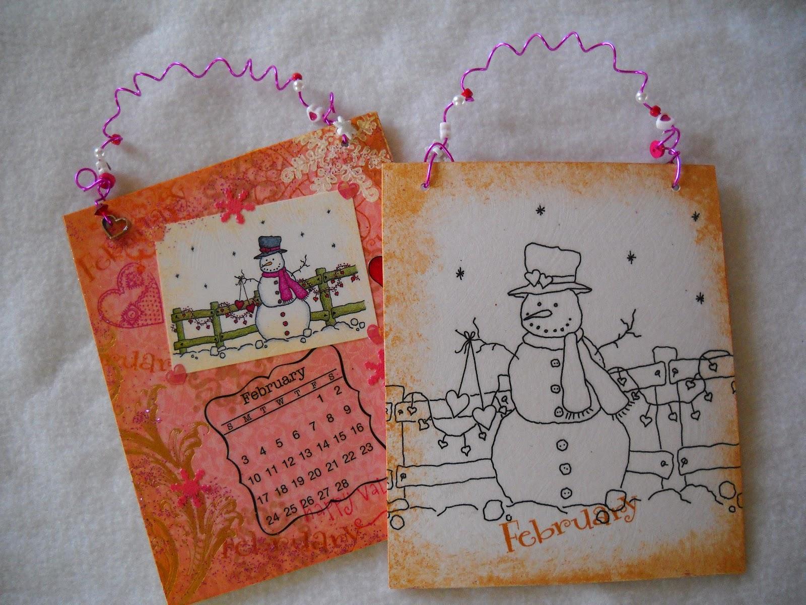 Handmade Calendar Design : Julies creative ideas my handmade snowman calendar