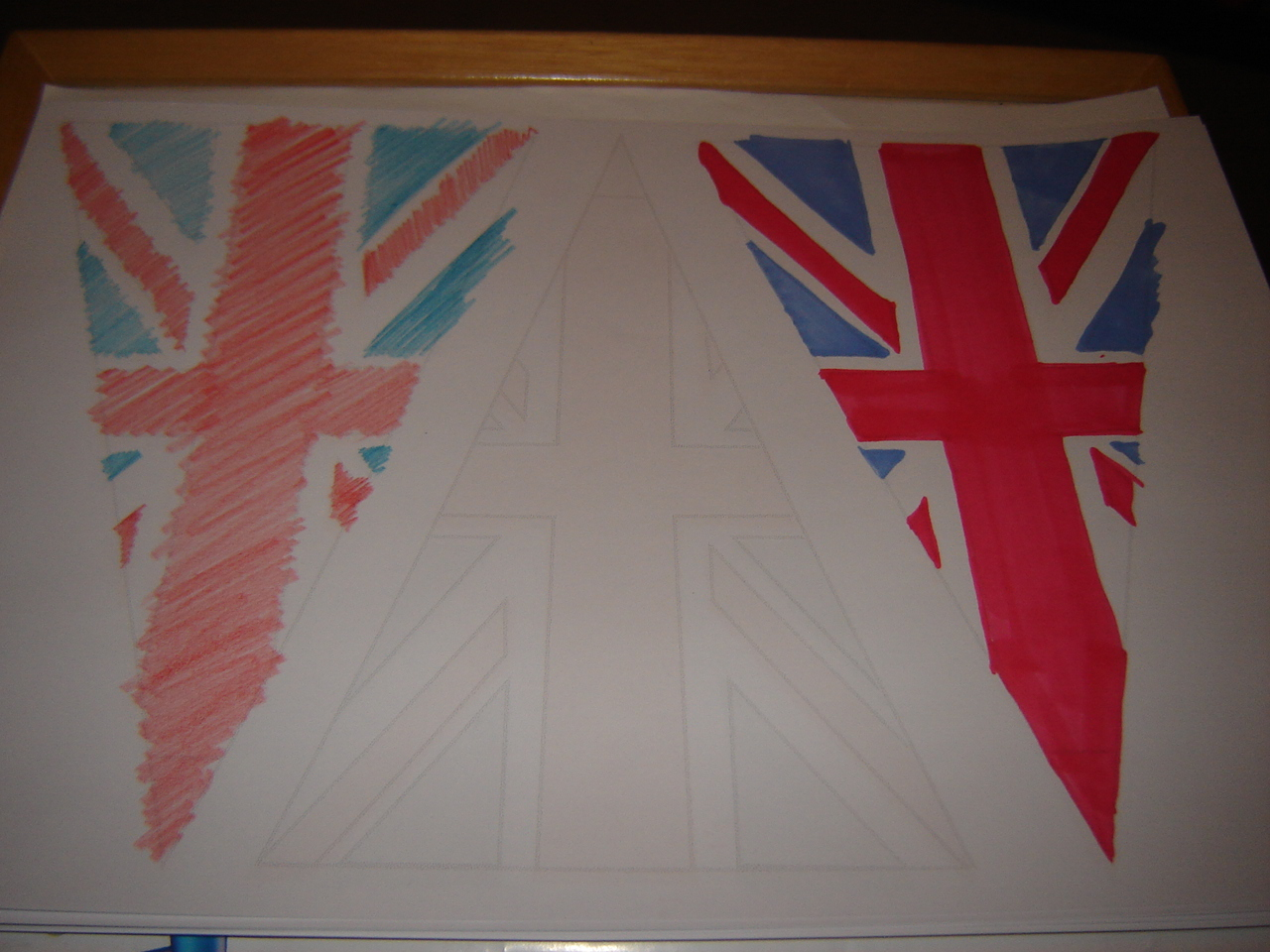 Beehive bits and pieces: Union Jack bunting template