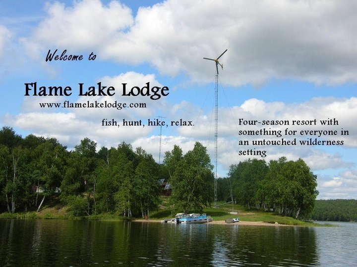 The michael j morris report flame lake lodge a place to for Places to fish around me