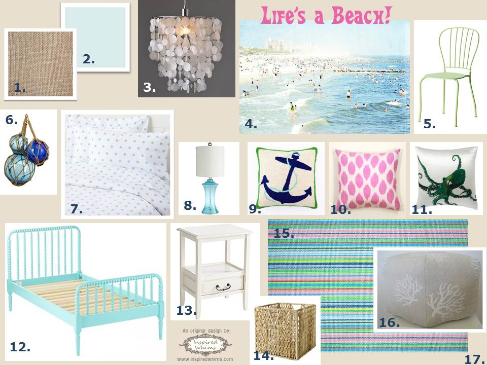 Inspired Whims: Life's A Beach Inspiration Board
