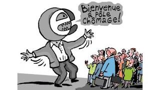 Chômage, « Le retournement n'est pas là » selon Sapin (OF) dans Chômage & précarité 13630-2010-11-emploi-france-dijon-pole-emploi-greve-bienvenue-a-pole-chomage-bloem-dessin-dijonscope