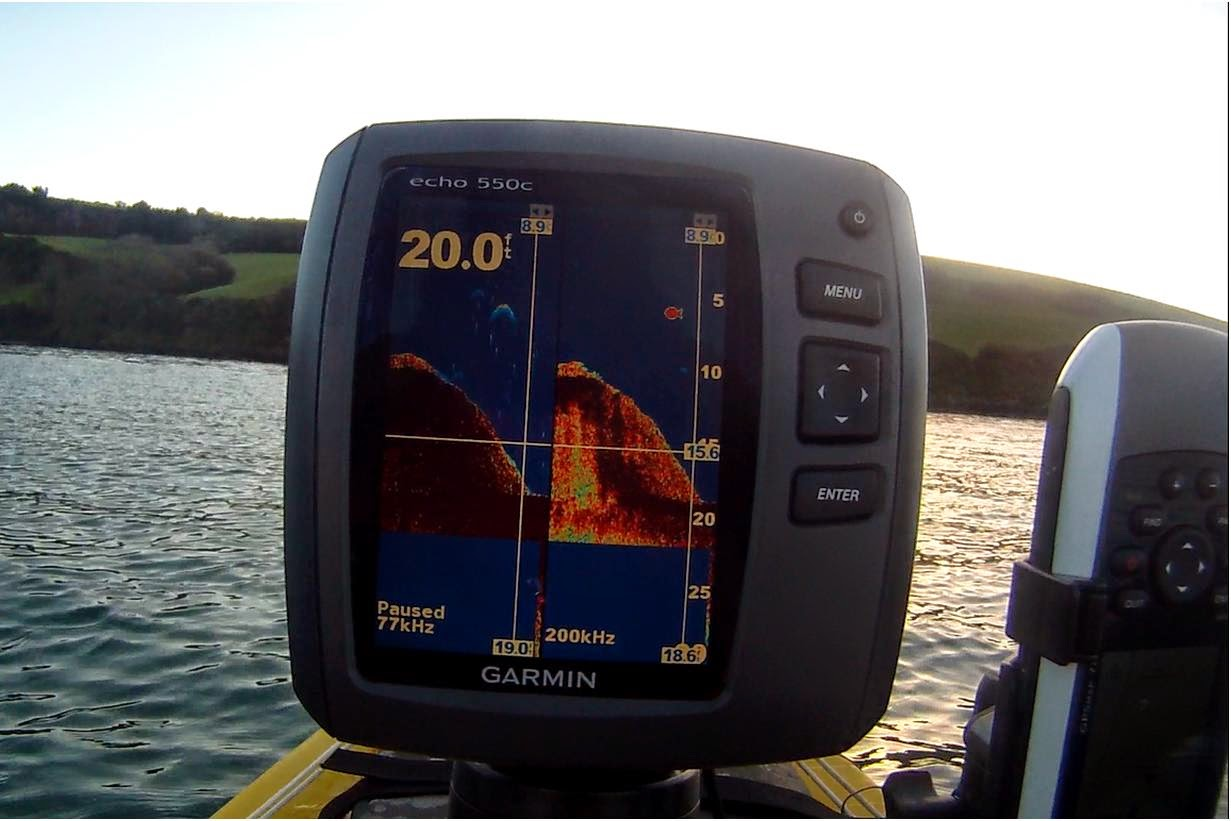 cornish shore and kayak fisherman: kayak fishing - how to read a, Fish Finder
