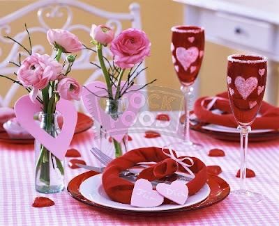 decoracion mesa san valentin romantica