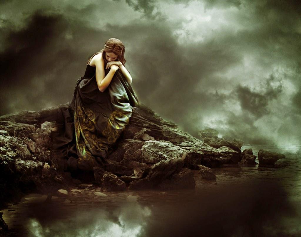 Tải hình nền cô đơn buồn thất tình đầy tâm trạng cho nữ