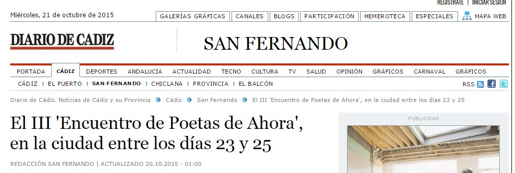 La Prensa anuncia el III Encuentro Poetas de ahora 2015