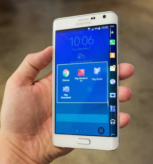The Samsung Galaxy Note Edge is a limited edition with a ...