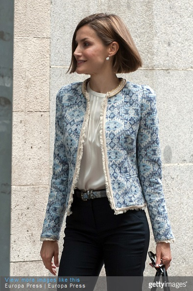 Queen Letizia of Spain attends a meeting at the Spanish Association Against Cancer, AECC on May 4, 2015 in Madrid, Spain.