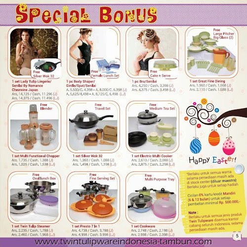 Special Bonus Twin Tulipware | Maret - April 2014
