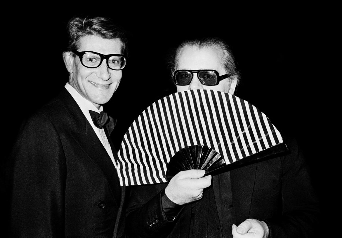 Yves Saint Laurent & Karl Lagerfeld in 1982 / Best fashion documentaries / Masters of Beauty: Karl Lagerfeld / via fashionedbylove.co.uk british fashion blog