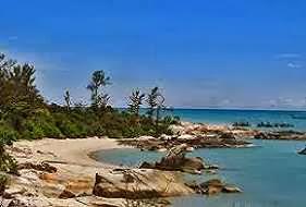 Pantai Rebo di Bukit Rebo Bangka