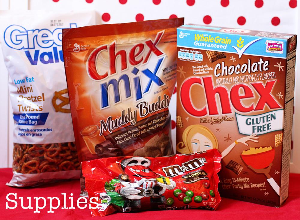 chex mix - Christmas Chex Mix Recipe