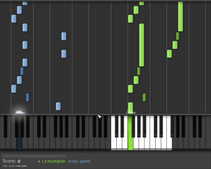 Learn piano keyboard lighted