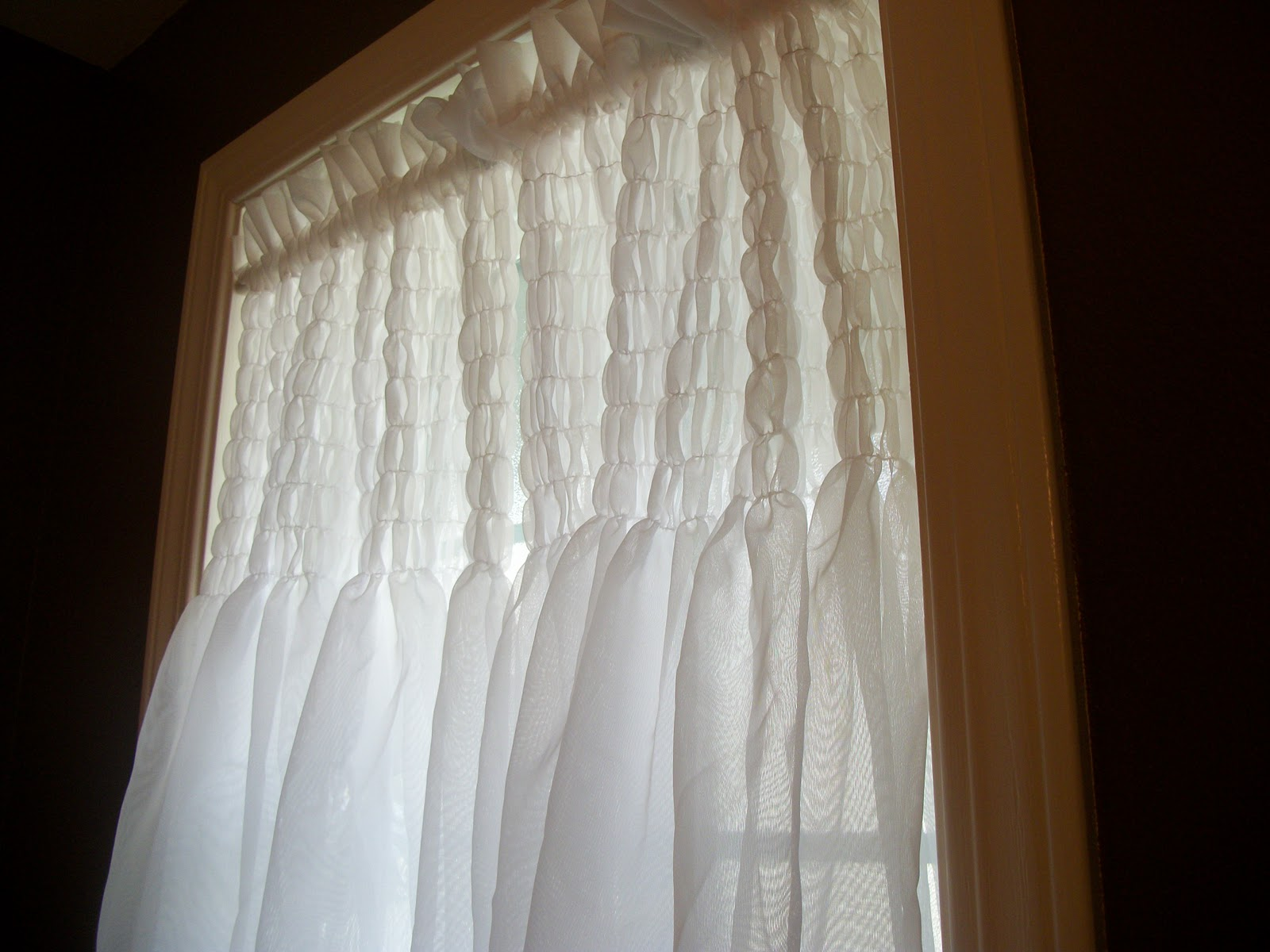 Shirred On Curtains