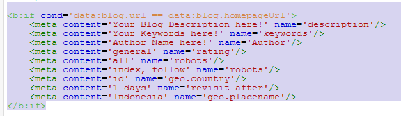 setting metabTag description galaxo template