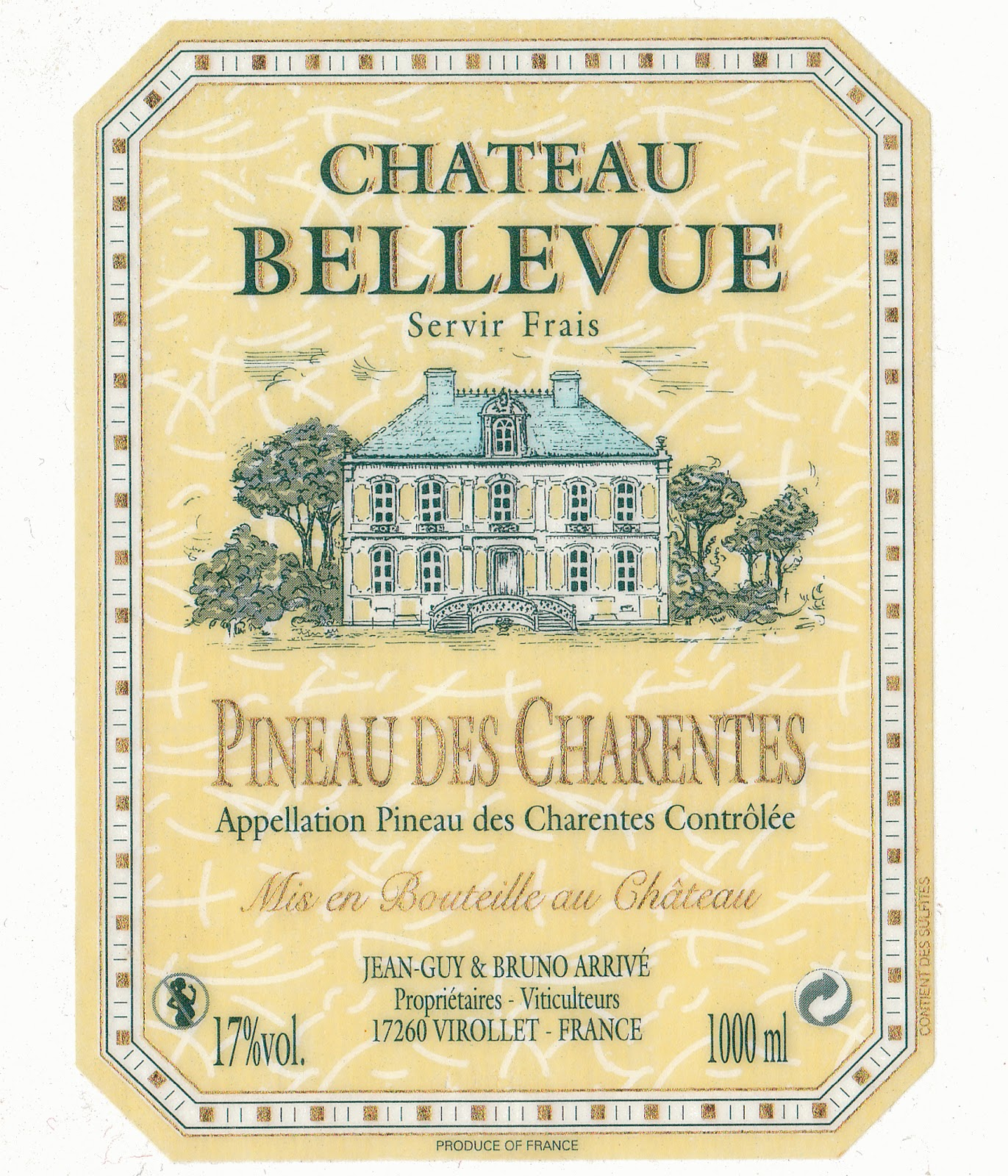 Wine Cork Wine Label Chateau Bellevue Pineau des Charentes – Wine Label Template Word