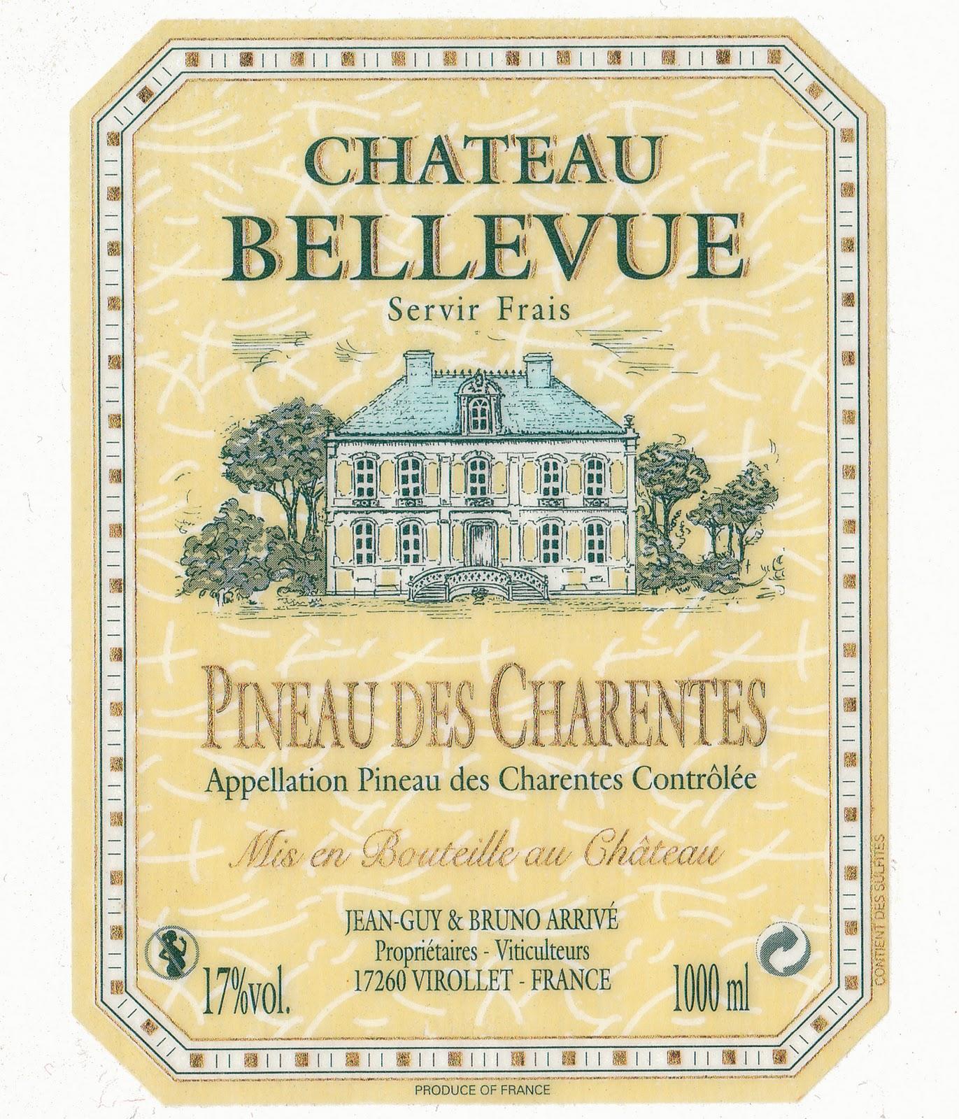 Wine Cork Wine Label Chateau Bellevue Pineau des Charentes