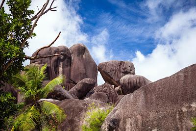 Granitfelsen der Anse Source d'Argent auf La Digue