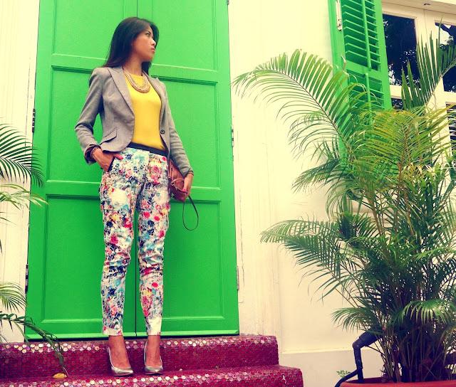 H&M floral Bershka stilettos MIU MIU clutch