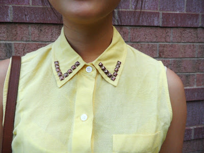 DIY studded collar tutorial