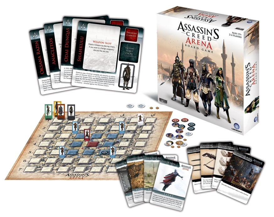 Assassin's Creed Arena board game contents