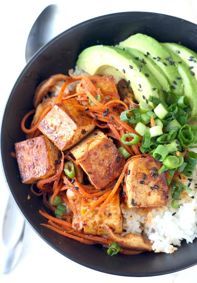 Korean Tofu & Shiitake Mushroom Rice Bowl recipe by SeasonWithSpice ...