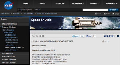Space Shuttle Atlantis Countdown