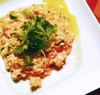 semplice risotto con gamberi