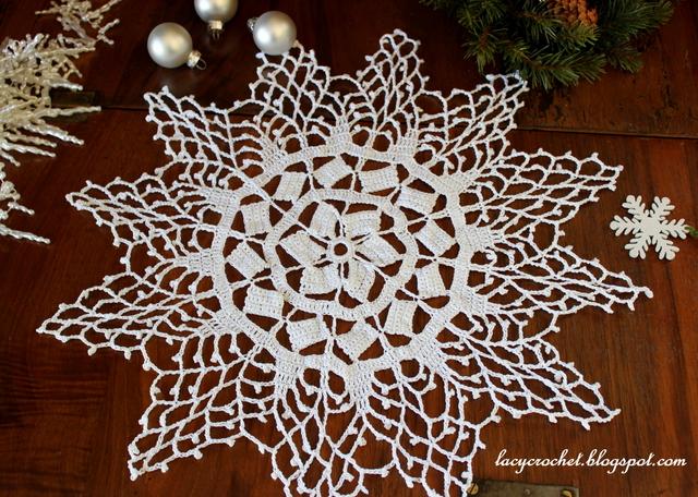 Lacy Crochet Snowflake Doily Vintage Crochet Pattern