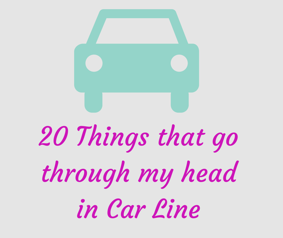 thoughts in car line
