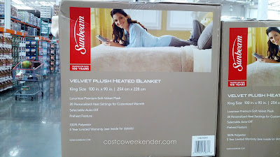 Sunbeam Velvet Plush Heated Blanket: great for winter