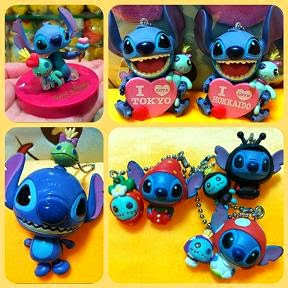 Japan Disney Stitch & Scrump Figures