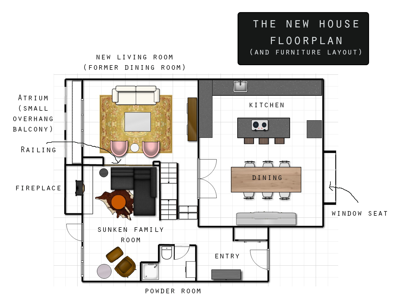 Plans for the New House-Floor Plans and Furniture | Brownie